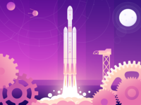 Illustration (SpaceX Launch )