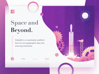 Space and Beyond ! rocket crypto banner slider web landing design ui icon illustration page