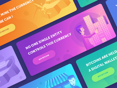 Bitcoin Banners / Facts web app icon illustration banner bitcoin gradient