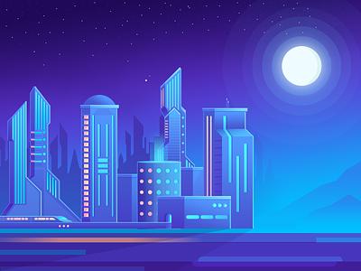 Just for fun ( nova city  ) city mobile app design ui illustration