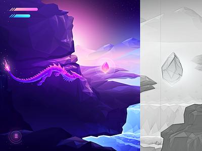 Game concept ( in progress ) game mobile app design ui illustration