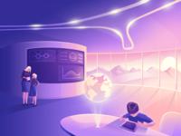 Futuristic School (Illustration)