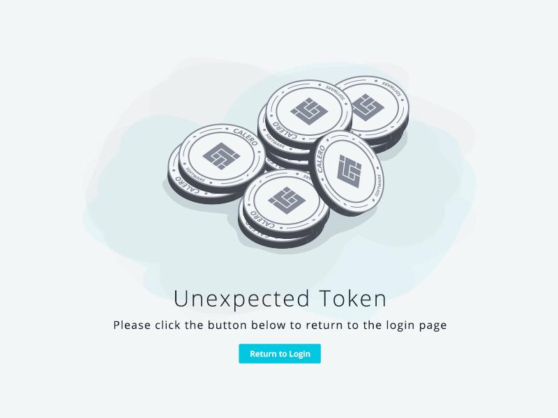 Unexpected Token coin illustration unexpected token