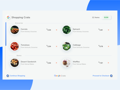 Shooping Cart - Google Crate