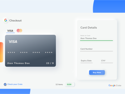 Checkout Page UI | Google Crate