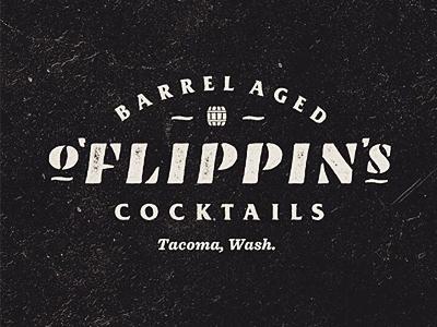 O'Fiippins Barrel Aged Cocktail Logo
