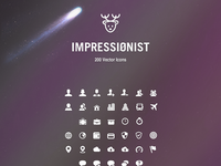 Impressionist vector icons pack