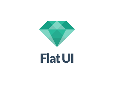 Flat UI Icon flat designmodo turquoise green diamond logo ui free freebie