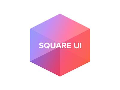 Square UI Icon square ui logo icon vector photoshop freebie colorful cube red orange purple