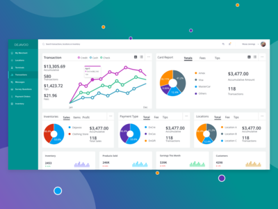 Dejavoo Payment Solutions Dashboard