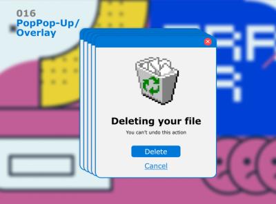 016  Pop-Up / Overlay window retrowave overlay popup dailyui ui uichallenge