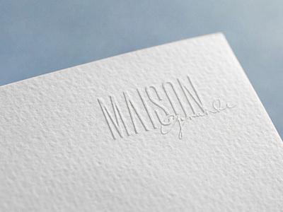 MAISON GRANDE typogaphy logo brand identity branding