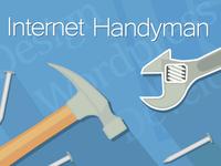 Internet Handyman Vector Image