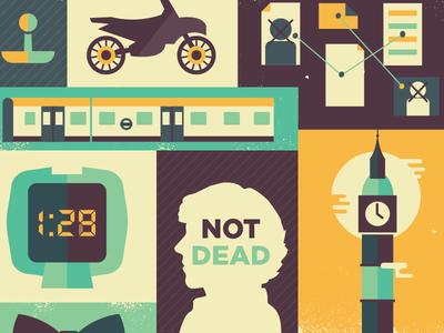 Sherlock: The Empty Hearse  sherlock bbc sherlock bbc the empty hearse empty hearse illustration retro