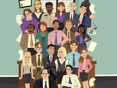 The Office sitcom comedy humor television characters character design people faces illustration the office