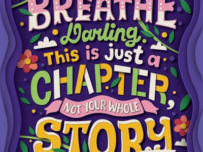 Breathe inspiration affirmation word art quote art quotes words paper paper faux handwritten type hand lettering typography lettering