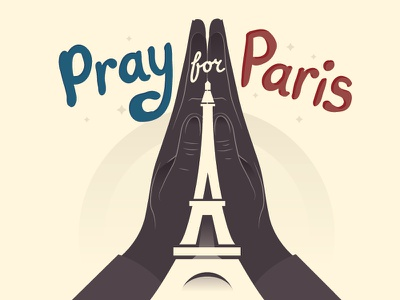 Pray for Paris typography lettering terrorism pray for paris eiffel tower france paris
