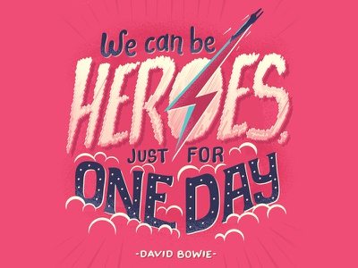 David Bowie tribute art lettering typography david bowie