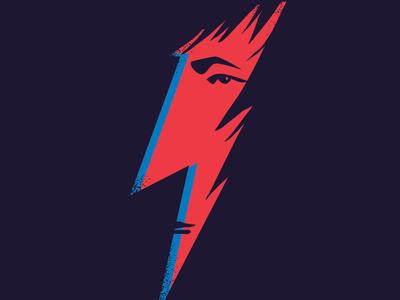 Bowie - Rickman negative space logo icon severus snape harry potter david bowie alan rickman