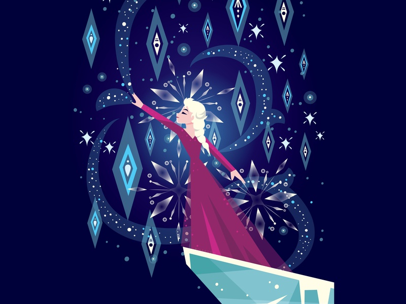 Into the Unknown 2 character design winter snow queen snow elsa frozen 2 frozen disney handwritten type illustration hand lettering typography lettering