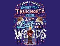 Lost in the woods character design frozen sven kristoff disney handwritten type illustration hand lettering typography lettering