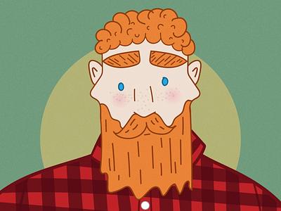 The Lumberjack digital illustration digital art digital illustration