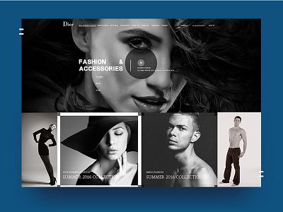 Dior web redesigner ui dior web