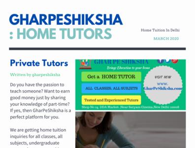 gharpeshiksha  Home Tutors