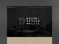 Decor+Design Melbourne 16 – Website