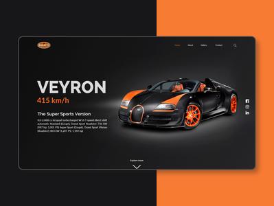 Bugatti Veyron UI