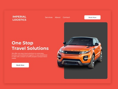 Car Rental Landing Page landing page design web ux ui