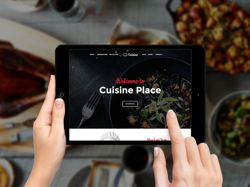 Cuisine - Restaurant Joomla Template food cuisine organic restaurant joomshaper template helix3 joomla