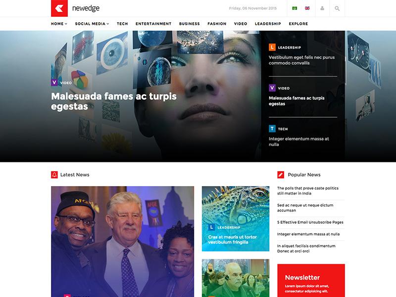 Newedge - Responsive Joomla Magazine News Template magazine news joomshaper template joomla multi-purpose responsive