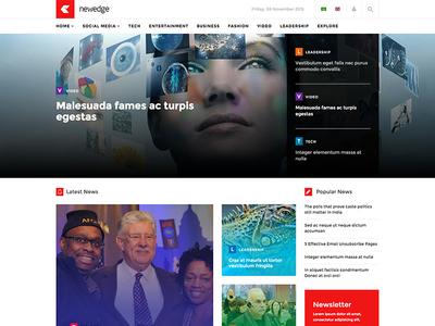 Newedge - Responsive Joomla Magazine News Template