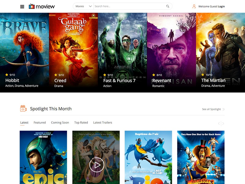 Moview - Joomla Movie Database and Review Template  imdb animation review movie magazine news joomshaper template joomla multi-purpose responsive