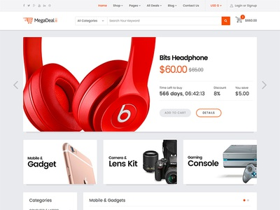 MegaDeal II - The Best Deals / E-Commerce Template for Joomla