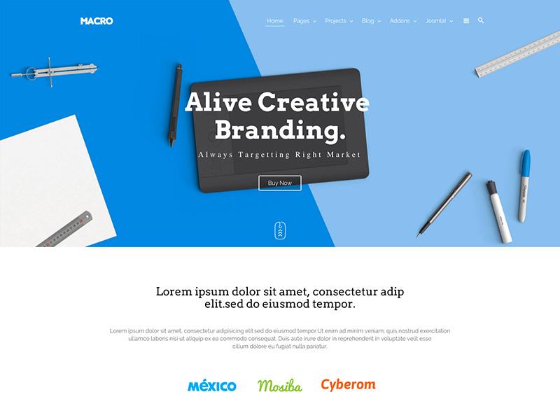 Macro - Multipurpose Creative Joomla Template template responsive joomshaper creative multipurpose joomla macro