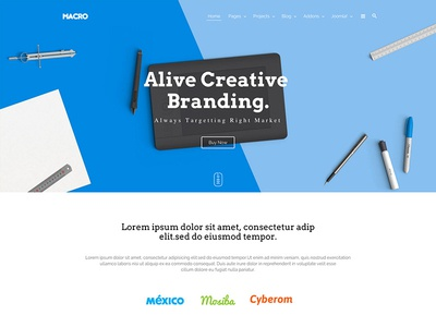 Macro - Multipurpose Creative Joomla Template