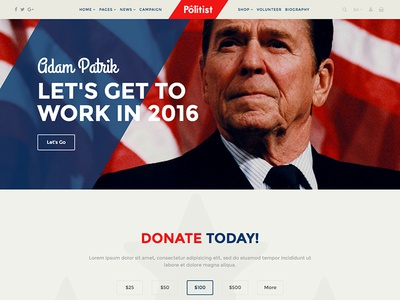 Responsive Joomla Template for Politicians / Election Campaigns