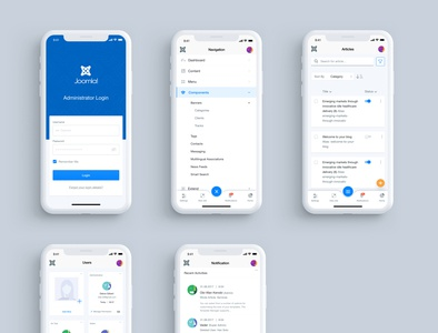 Mobile Interface Concept for Joomla 4