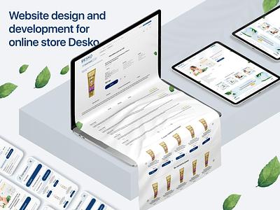 Online store Desko development desktop designer branding logo website web vector ui ux minimal illustration design
