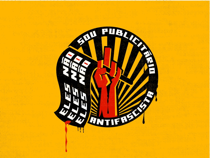 Antifascist logodesign designs vector democracy fascism brand design logo