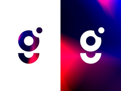 G Logo Exploration leaks light noise color typography alphabet letter monogram logo smile dot circle geometric gif graph gradienta gradient graphic g logo