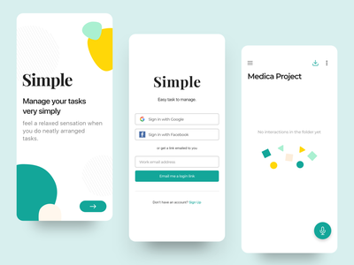 Simple - Manage your task minimal simple design white ux ui cool user interface user experience task project mobile app design minimalist simple clean ui ios concept color android