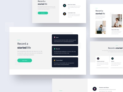 #Exploration-Featured Proof-Landing Page typogaphy whitespace website ui thumbnail page list landing feature homepage grid design clean bold