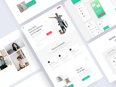 Content - Storied Landing Page branding whitespace story family card ux ui minimalist minimal clean white website