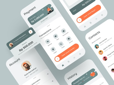 Wallet App Exploration 3 banking dashboard typography digital transactions payment illustration android ios card minimalist app mobile clean