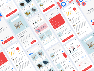 Donara - Ecommerce Mobile Platform 3 ecommerce marketplace market screen whitespace uxdesign uidesign design app ios mobile portfolio minimalist clean card