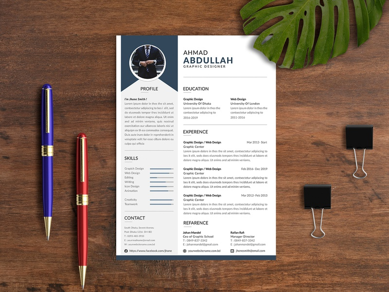 Simple Attractive Resume Design creative resume design modern resume design resume design pinterest simple resume design