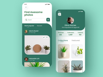 Stock photos Mobile app social app photography website 2020 trend 2020 ios app mobile app minimal illustration app branding ux ui stock photo template photos